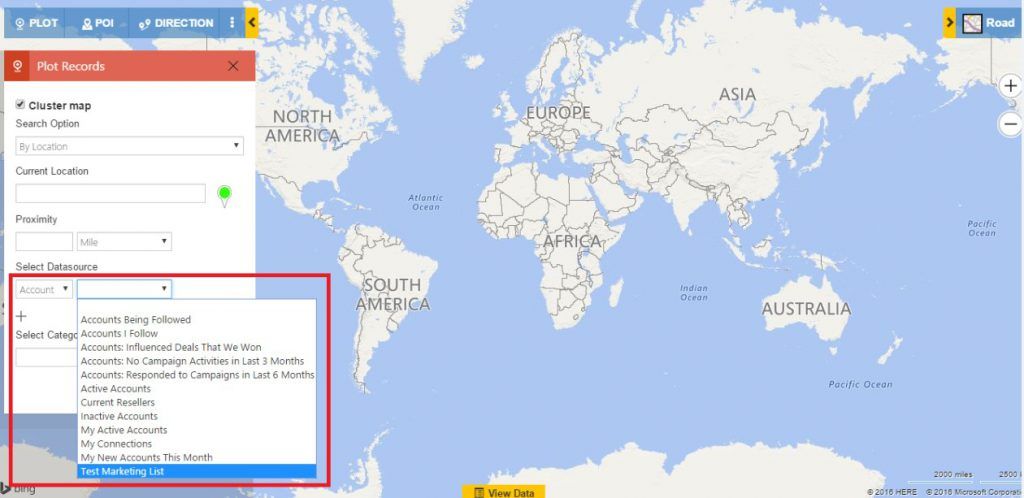 Map Integration Dynamics CRM