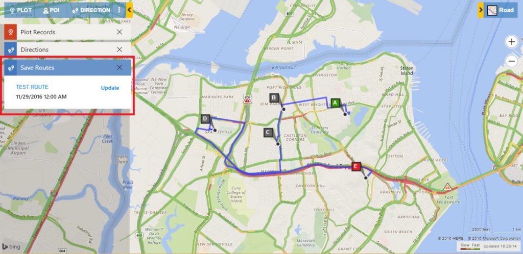 Route Mapping Dynamics CRM