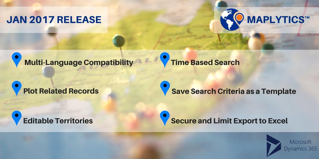 Map Integration MS Dynamics CRM - Jan 17 Release