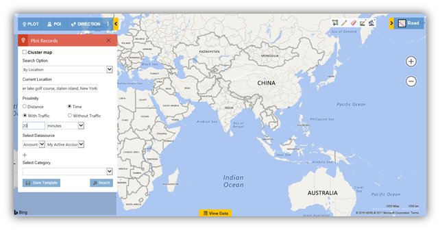 Maps Dynamics CRM - Time Based Search