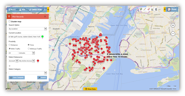 Map Dynamics CRM - Time Based Search