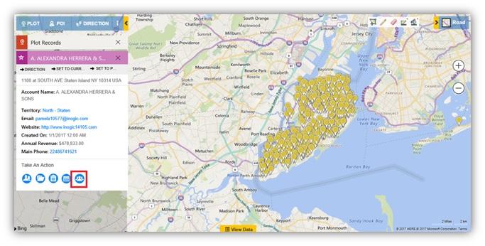 Plot Dynamics CRM Records on Map