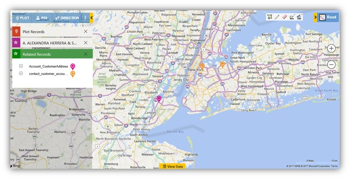 Plot Dynamics CRM Data on Map