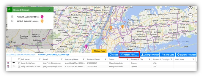 Plotting Dynamics CRM Data on Map