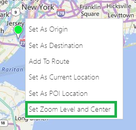 Maplytics Set Zoom Level and Center Contextual Menu