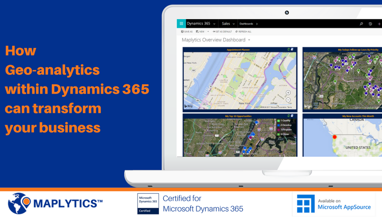 Geo-analytics within Dynamics 365