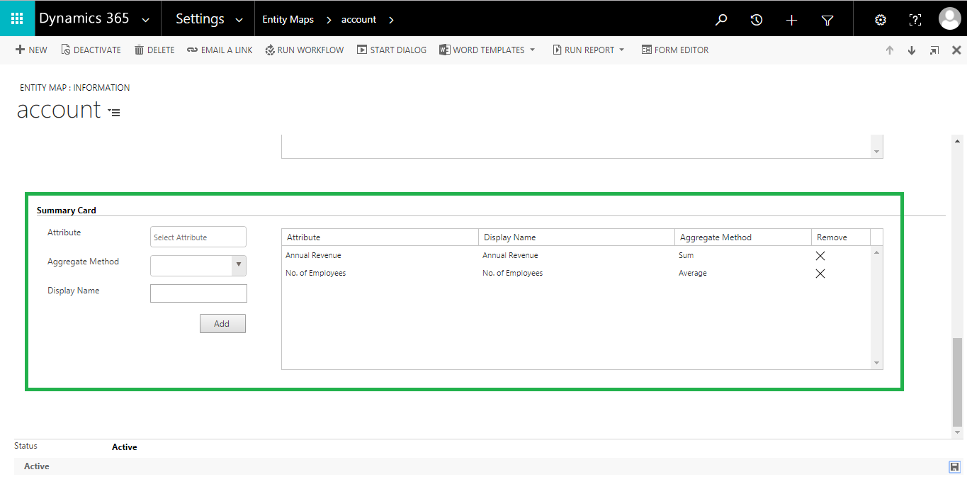 Summary Card - Get aggregate information for any enclosed area on the map within Dynamics CRM