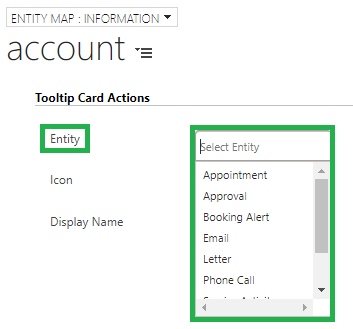 Tooltip Card Actions Entity