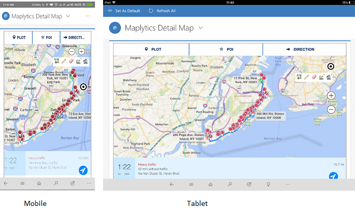 Route finder Dynamics CRM