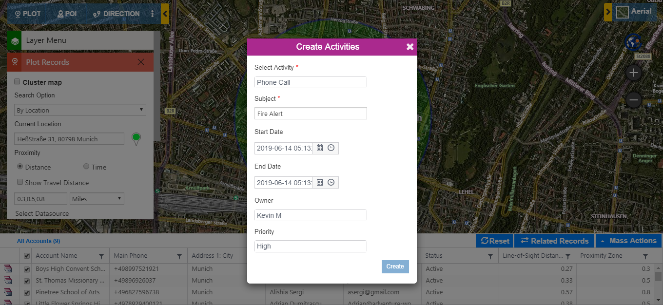 Quickly respond to emergencies by locating affected area on map from within Dynamics 365 CRM