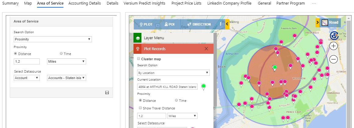 visualizing Dynamics 365 CRM data on map