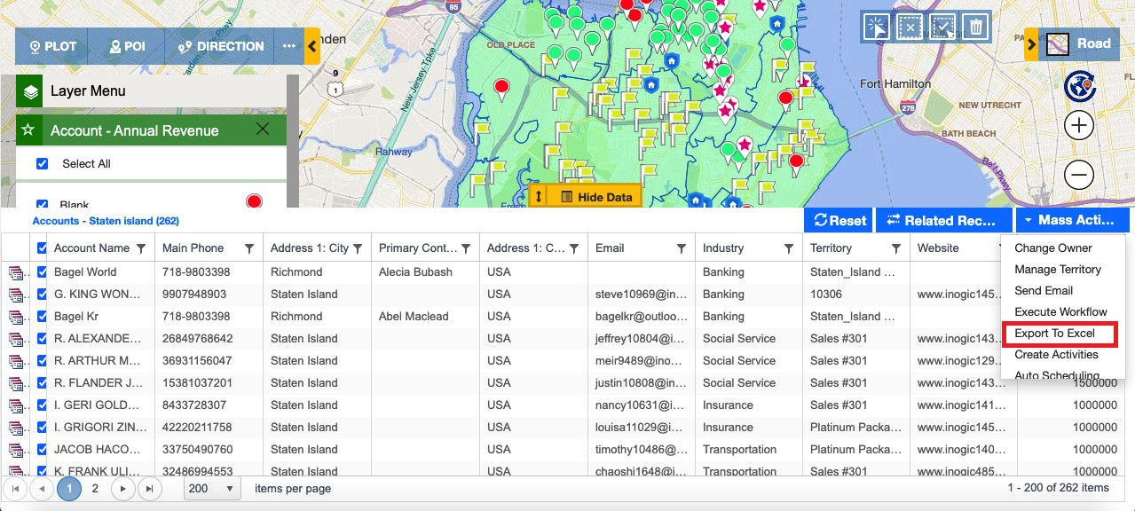 geographical insights of your Dynamics 365 CRM data