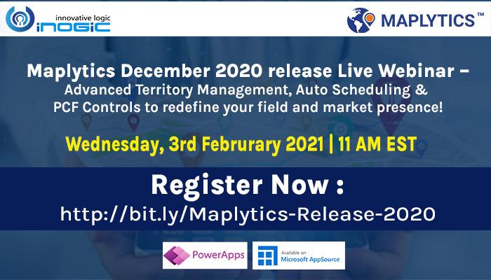 Maplytics December 2020 release Live Webinar