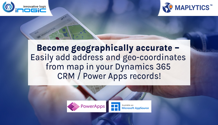 Easily add address and geo-coordinates from map dynamics CRM