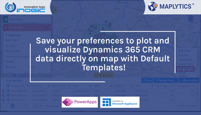Save your preferences to plot and visualize Dynamics 365 CRM data