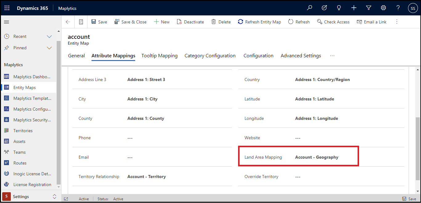 Assign Land, Farm or any geographical area to a particular record within Dynamics 365 CRM