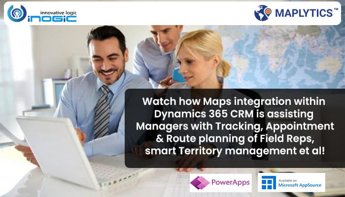 Watch how Maps integration within Dynamics 365 CRM is assisting Managers with Tracking, Appointment & Route planning of Field Reps, smart Territory management et al!