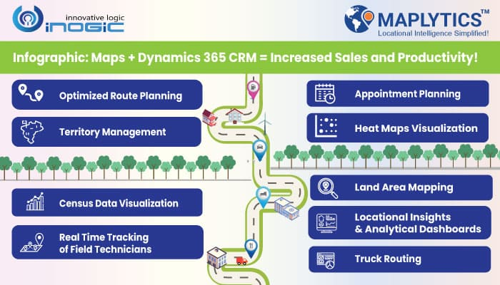 Infographics: Maps + Dynamics 365 CRM = Increased Sales and Productivity!
